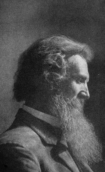 John Muir with chest-length beard