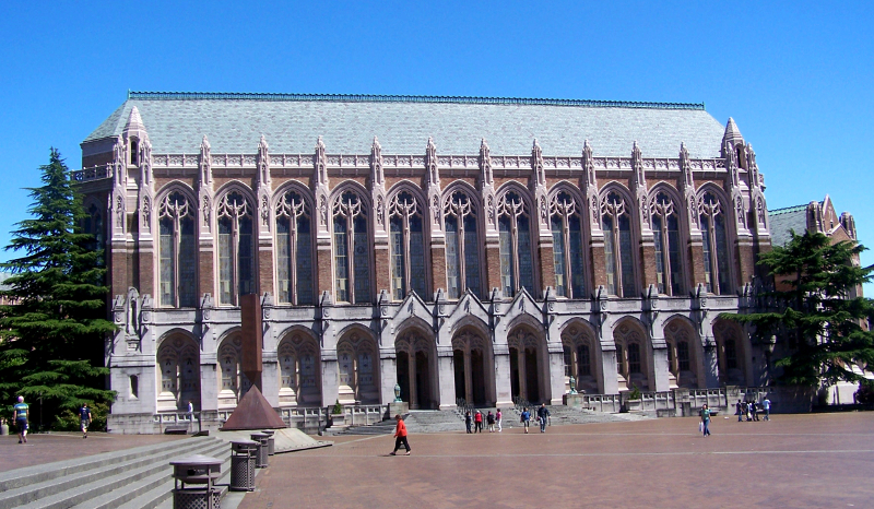 photo of huge and majestic Suzzallo Library