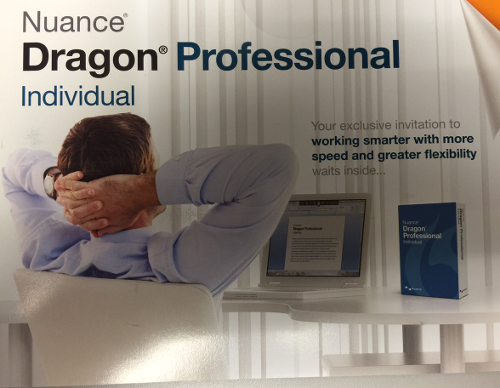 Nuance Dragon Professional ad, featuring relaxed man #1