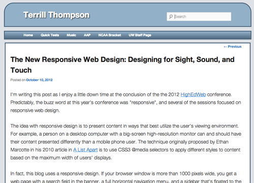 Screen shot of this blog post on a medium resolution screen