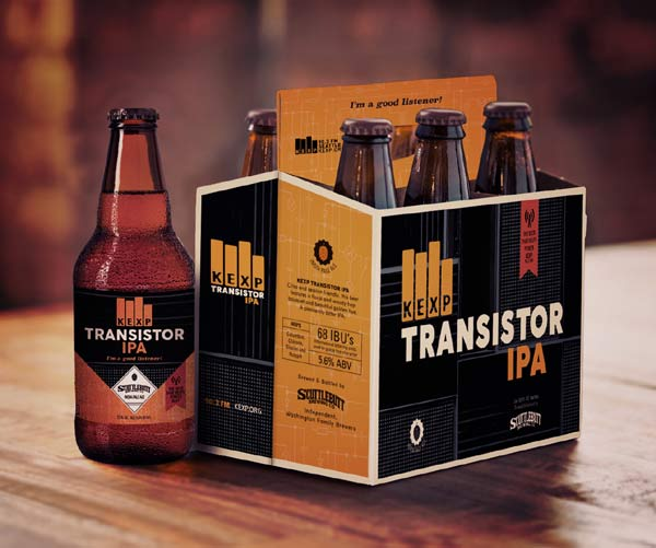 photo of six pack of KEXP Transistor IPA