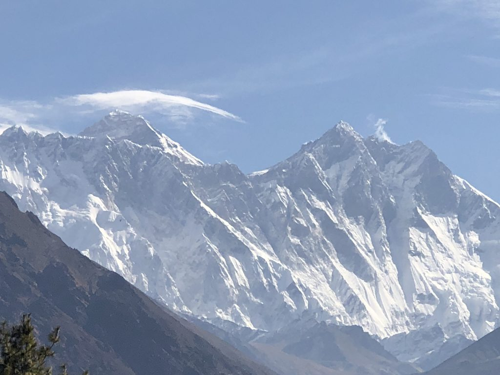 Mount Everest and Lhotse, near Tenboche