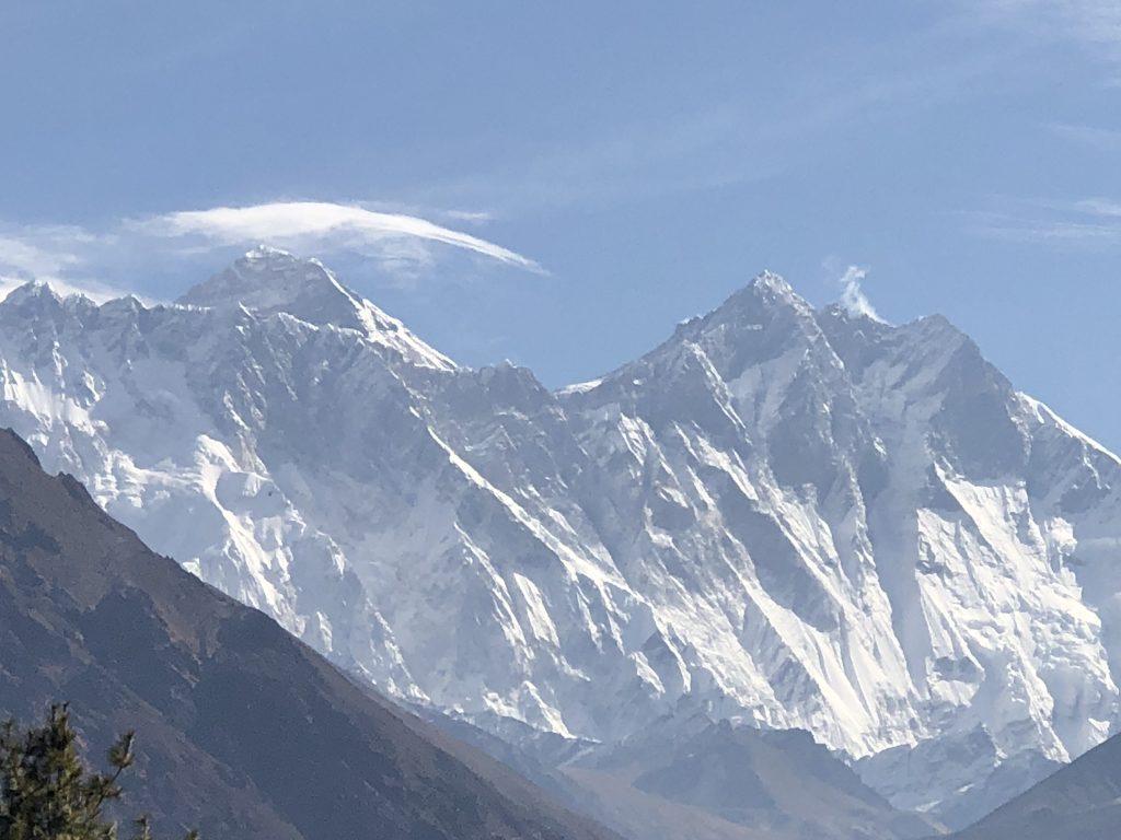 Mount Everest and Lhotse, near Tenboche